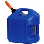 Midwest Can 7610 Blue 5 Gallon PLAS EPA/CARB Kerosene Can