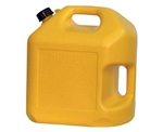 Midwest Can 8610 Yellow 5 Gallon Plastic EPA/CARB Diesel Can
