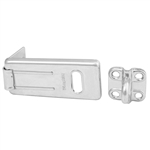 Master Lock 702D 2-1/2 Inch (64mm) Long Zinc Plated Hardened Steel Security Hasp with Hardened Steel Locking Eye