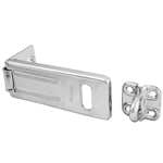 Master Lock 703D 3-1/2 Inch (89mm) Long Zinc Plated Hardened Steel Security Hasp with Hardened Steel Locking Eye
