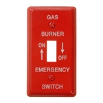 Mulberry, 41020, Red, 1 Gang, Single Toggle Switch, Emergency Gas Burner On / Off, Wall Plate