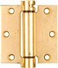 "National, N184-556, 3-1/2"" x 3-1/2"", Dull Brass Finish, Mortise Spring Hinge"