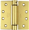 "National, N184-572, 4"" x 4"", Dull Brass Finish, Mortise Spring Hinge"