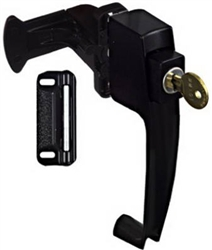 "National, N185-488, Black, Push Button, Key Latch With 1-1/2"" Hole Spacing"