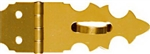 "National, N211-466, 5/8"" x 1-7/8"", Bright Brass Finish, Solid Brass Decorative Hasp"