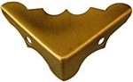 "National, N213-462, 4 Pack, 9/16"" x 1-1/4"", Antique Brass Finish, Solid Brass Corner"