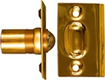 "National N216-150 Polished Brass 1-1/16"" x 2-1/8"" Ball Catch"