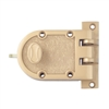 Guard, Guard 1666F, Guard 1666PB, Penn Reading P1555 (Like Segal) Solid Bronze Jimmy Proof Deadlock Deadbolt Single Cylinder Lock Set, Boxed