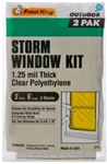 Frost King P712H Economy Outdoor Plastic Storm Window Kits 3-Foot by 6-Foot by 1.25-Mil