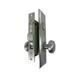 Guard Security Metro Version (Marks 114A/26D Like) P8888RAKSC Right Hand Satin Chrome 26D Apartment Mortise Entry Lockset, self-Adjusting spindles with Screwless Knobs Thru Bolted Lock Set