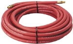 "Campbell Hausfeld 50' x 3/8"" Heavy Duty Rubber Air Hose with 1/4"" NPT(M) Fittings"