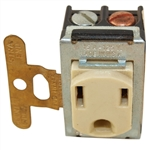 Pass & Seymour 1432 Ivory 15A 125V Despard Outlet Receptacle, 3 Wire Grounded
