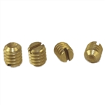 "Progressive 1420 Pack Of 4 Polished Brass Standard Knob Set Screws 1/4"" - 20 TPI For The Progressive Model #'s 2400 & 2600"