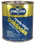 Pacoa, PGP32, 1 Quart, Ready Mixed Gold Paint, Brilliant Gold Leaf Finish