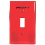 Cooper PJ1EMRD Red Emergency 1 Gang Toggle Wall Plate