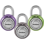 WordLock DELUXE PL-095-A1, Assorted Colors, Text Lock Combination Dial Padlock, FEATURES DETENT MECHANISM Click-Dial ensures accuracy, 1 Piece