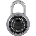 WordLock RESETTABLE PL-109-A1, Assorted Colors, Text Lock Combination Dial Padlock, FEATURES DETENT MECHANISM Click-Dial ensures accuracy, 1 Piece
