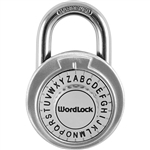 WordLock STANDARD PL-114-A1, Assorted Colors, Text Lock Combination Dial Padlock, 1 Piece