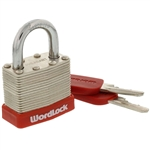 Wordlock PL-118-A1 Match Key 40mm Laminated Steel Padlock 1 Assorted Color Per Order (Black, Blue, Green & Red)