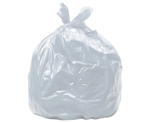 "Poly-pak Industries 33340 1.25 MIL 33 Gallon Clear Recycling Garbage Trash Bags 33""X40"", 40 COUNT"