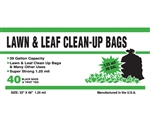 "Poly-pak Industries 39125 Black 39 GALLON 1.25 MIL Outdoor/Yard LAWN AND LEAF Garbage Trash Bags 33""X48"", Box Of 40"