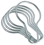 Alsons, PS2546, 12 Pack, Chrome Wire Shower Curtain Hooks