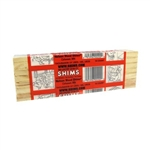 "PSH8/14/52, 14 Pack, 3/8"" x 1-1/2"" x 8"", Wood Shims, Handy For Builders Etc."
