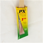 "PX PX-02661 PBT 1"" Long Rattail Angle Sash Professional Paint Brush"