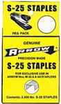 Arrow Fastener, S25PP, 2400 Pack, Staples, For The DC25 Desk Stapler