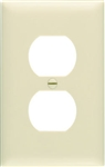 Pass & Seymour, SP8IUCC100, Ivory, 1 Gang, 1 Duplex Outlet Opening, Urea Wall Plate