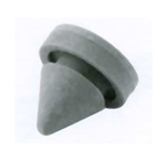 "Ives, SR64-1, 1 Piece, Gray Grey, 1/2"" Diameter Cone Shaped Rubber Door Silencer"