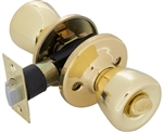 Tuff Stuff T0303AB Polished Brass US3 Tulip Privacy Lockset With Adjustable Backset