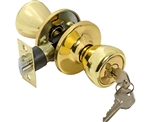Tuff Stuff T0403AB Polished Brass US3 Tulip Entry Lockset With Adjustable Backset