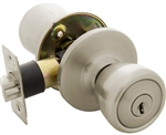 Tuff Stuff T0426A Stainless Steel Tulip Knob Entry Lockset With Adjustable Backset