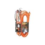 PCC Power Cords & Cables PCC-36725 25' Incandescent Trouble Work Light Portable Hand Drop Light 16/3 SJTW Cord 10A 125V Grounded Side Outlet Metal Cage Bulb Guard