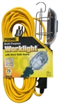 Prime Wire & Cable, TL010630, 50', Incandescent Trouble Work Light Portable Hand Light, 16/3 SJTW Cord, 13A, 125V, Grounded Side Outlet, Metal Cage Bulb Guard