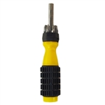Trisonic TS-F169 Yellow And Black Heavy Duty Multi Tip 6-In-1 Screwdriver