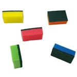 Trisonic TS-G240 Multi Colored 24 x 5 Pack (totaling 120 pieces) Of Cleaning Sponges