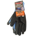Trisonic TS-GL3003 Black Palm Coated Blue Heavy Duty Latex Grip Polyester Gloves
