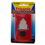 Trisonic TS-LED001-R LED Pocket Credit Card Torchlight With 3V Battery A Built In Stand And A Red Finish