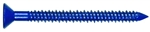 "Tuff Stuff, 33026, 100 Pack, 3/16"" x 3-1/4"" Phillips Flat Head Concrete Screw Anchor Xylon Blue With Drill Bit"