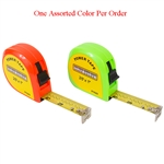 "Tuff Stuff 91625 Orange and Green Neon Color 1"" X 25' Power Tape Measure Rule (1 Assorted Color Per Order), A two rivet end hook can stand up to repeated use, Ideal for measuring materials and distances up to 25 ft."