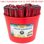 "Tuff Stuff 95241 #1X4"" & #2X4"" Phillips Screwdriver, Ideal for easy installation and assembly work."