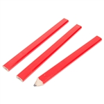 Tuff Stuff 96005 Red 3 PC. Carpenter Pencil Wood Body, Pencils Are Perfect For Marking Saw Lines, Drill Pits & More, Oversized Pencils With Flat Surfaces.