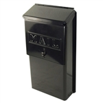 Tuff Stuff, 2016, Black Enamel Metal Vertical Mailbox, With Security Hasp