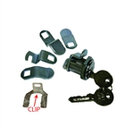 Tuff Stuff, TUF205, 5 Cam Mail Box Lock Mailbox Lock, Multi Cam Style With Clip & Nut, Replaces: American Device, Florence, Miami - Carey, Bommer, Auth; Uses HL1 Keyway, Polybagged