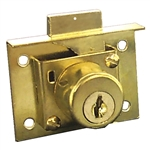 Tuff Stuff 2114 Brass Plated Keyed Cabinet And Drawer Lock