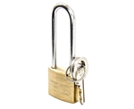 "Tuff Stuff 3100LS 1"" Solid Brass Body Padlock With Long Shackle"