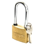 "Tuff Stuff 3150LS 1-1/2"" Solid Brass Body Padlock With Long Shackle"