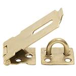"Tuff Stuff 34520 Brass Plated 2"" Safety Hasp, Safety hasps provide good security under many conditions. The Tuff Stuff 34520 to fit most situations where a fixed staple is necessary or desirable. The hasp come complete with all screws."